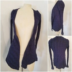Silence + Noise Opsn Ripped Cardigan Purple XS